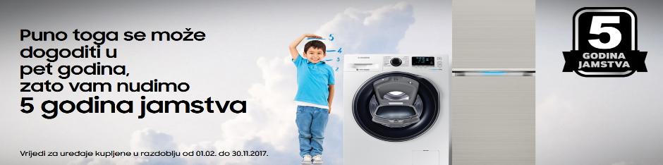 Samsung 5 godina garancije perilice rublja i hladnjaci
