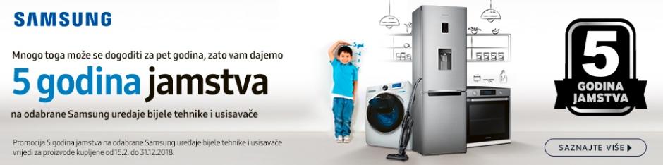Samsung 5 godina jamstva na hladnjake i perilice rublja