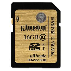 Kingston SDA10 U1, R90MB/W45MB, 16GB