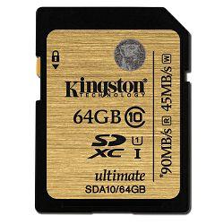 Kingston SDA10 U1, R90MB/W45MB, 64GB
