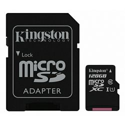 Kingston microSDHC Canvas select, Class10, 128GB