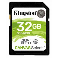 Kingston SDXC Canvas R80, 32GB