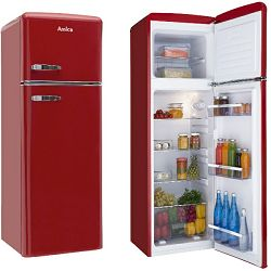 Kombinirani hladnjak Amica KGC15630R, A++, retro, crvena