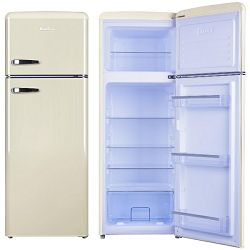Kombinirani hladnjak Amica KGC15635B, A++, retro, bež