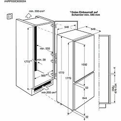 Kombinirani hladnjak ugradbeni Electrolux ENN2800BOW