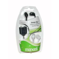 Maxell Canalz slušalice, 2pack, crne i bijele + sp