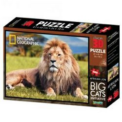 Puzzle 3D - afrički lav National Geographic Kids