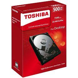 Toshiba P300 500GB, 64MB, 7200rpm, retail