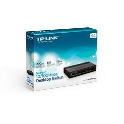 TP-Link TL-SF1016D,16-port 10/100 switch,plastično